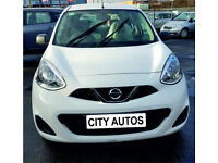 NISSAN MICRA 2016 10,000 MILES 1.2 PETROL 5 DOOR HATCHBACK MANUAL WHITE
