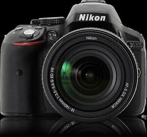 Nikon D5300 DSLR Camera Black + AF-S 18-55mm VR II + 55-300mm VR