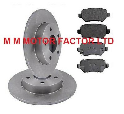 Vauxhall Astra Mk5 H 2004  ALL MODELS REAR SOLID BRAKE DISCS AND PADS SET