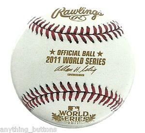 Official-Ball-2011-World-Series-MLB-Baseball-Button-NEW-2-1-4-Cardinals