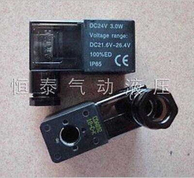 Electrical Pneumatic 4v110 Solenoid Valve Coil Dc 12v With Lamp