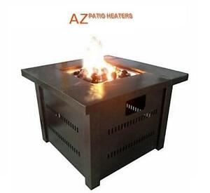 NEW AZ PATIO HEATERS FIRE PIT - 115249881 - CA GS-F-PC PROPANE FIRE PIT ANTIQUE BRONZE FINISH