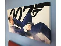 Large James Bond Skyfall Canvad