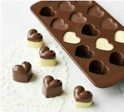1Pcs Silicone Heart Chocolate Molds Jelly Ice ...