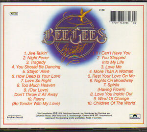 Bee Gees - Greatest Hits (2 CDs Boxed-Set) West Island Greater Montréal image 2