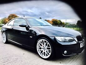 ★NEW IN★ BMW 3 SERIES 320D M-SPORT COUPE ★MOT JAN 17★ RED LEATHER TRIM ★SERVICE HISTORY★KWIKI AUTOS★