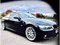 ★BMW 3 SERIES 320D M-SPORT COUPE ★MOT JAN 2017★RED LEATHER TRIM★SERVICE HISTORY★ CAT-D ★KWIKI AUTOS★