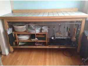 kitchen Buffet with Italian tile top