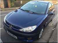 Peugeot 206 Automatic 2005 ,1.4 petrol 5-dr, 12 Months MOT, Good gearbox, low milage 59K only £995