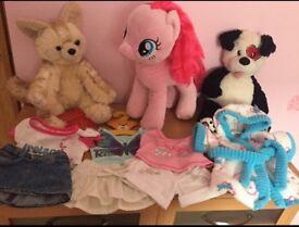 Build a bear my little pony,fox,bear,clothes