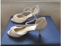 Rainbow vintage wedding shoes