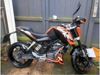 Ktm 125 Duke, low miles, good condition!