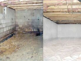 Water damage repairs/basement waterproofing and fitout/damp proofing
