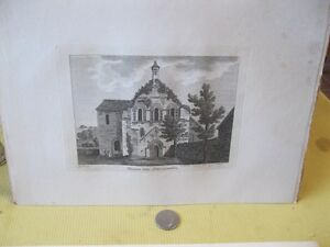 Vintage-Print-MARGAM-ABBEY-Antiquities-of-England-1783-S-Hooper-18th-Cent
