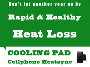 Heat sink/cool pad for mobile phone - absorbs heat rapidly