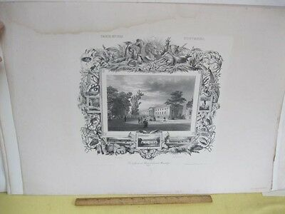Vintage Print,VUE DU JARDIN DES PLATES,Cabinet - Jardin Vintage Print