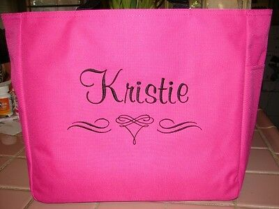 7 WEDDING TOTE Bag personalized  BRIDESMAID SCROLL BRIDE shower GIFT - Wholesale Personalized Gifts