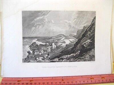 Vintage Print Giants Causeway Ireland 19Th Century