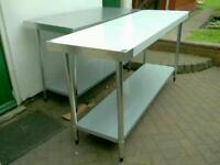 Commercial Vogue stainless steel table catering equipment. Brand New