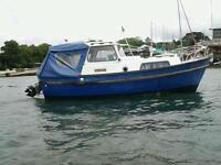 HARDY 20ft boat and mooring. Trailer and dinghy available