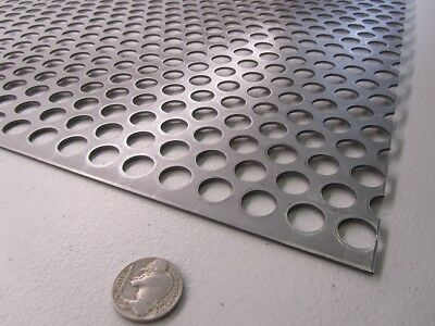 Perforated Staggered Steel Sheet .075 Thick X 24 X 24 .500 Hole Dia.