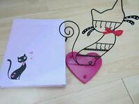 Cat jewellery holder new boxed