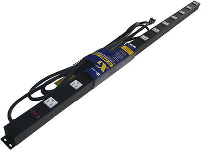 4 12 Outlet Metal Power Strip Surge Protected 41215v