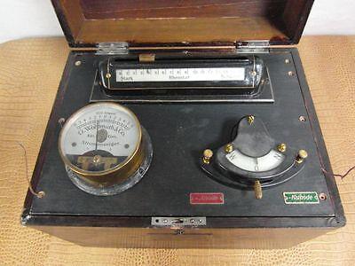 Antik Strom Medizin Therapie Meßgerät Historisch  Museum Wohlmuth Rarität o1d3