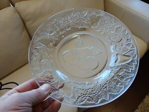 Black Rod Iron and Decorative Glass Cookie, Cheese Serving Tray Kitchener / Waterloo Kitchener Area image 3