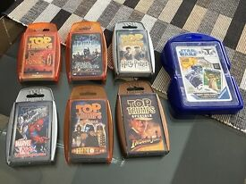 Assorted card games bundle (6 Top Trumps and Star Wars giant cards)