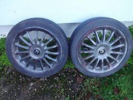 """17"""" alloy wheels 4 x 100"""