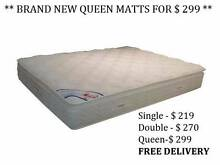 ** MATTRESSES ** NEW ** free metro Delivery ** West Perth Perth City Preview