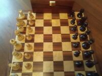 Rosewood and Boxwood Double weighted Staunton Chess Set & Board