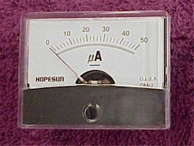 50uadc Panel Meter Ammeter Modern Analog Power Supply