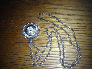 Vintage Swiss Made Caravelle Necklace Pendant Watch