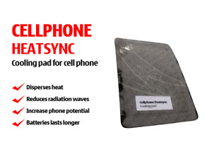 Smartphone cooling pads for absorbing mobile phone heat