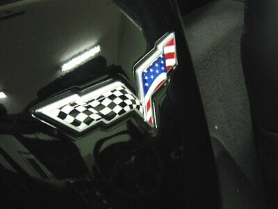 Used, C6 Corvette American Flag Emblem Overlay Decals Fits Front, Rear for sale  Canfield