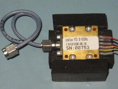 Stellex Mini Yig Oscillator 8-10ghz Tunablesma Cable