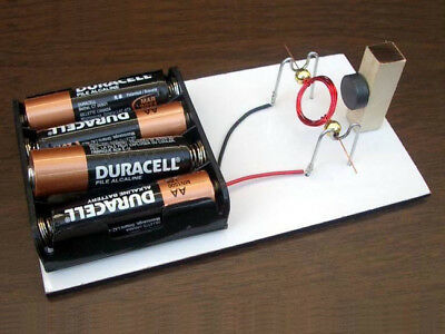 Magnetism Project Kit (DIY SIMPLE CONVENTIONAL MOTOR KIT #15 SCIENCE FAIR PROJECT ELECTRICITY MAGNETISM )