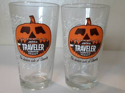Jacko Traveler Pumpkin Shandy Pint Drinking Glass American Craft Beer - Halloween Beer Glasses