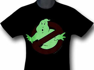 BRAND NEW GLOW IN THE DARK GHOSTBUSTERS T-SHIRT SIZE LARGE