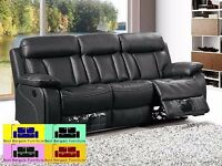 RECLINER SOFA 3+2 or 3+2+1 IN BLACK AND BROWN - 50% DISCOUNT - LIMITED TIME OFFER - HURRY UP!!!