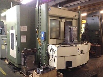 Used Makino A-77 Cnc Horizontal Mill 1998 Tsc Fanuc 25 Plts 18000 Rpm