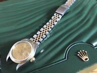 Rolex Datejust 69173 a Ladies 26mm 18k Bi Metal Bracelet Watch Circa 1995