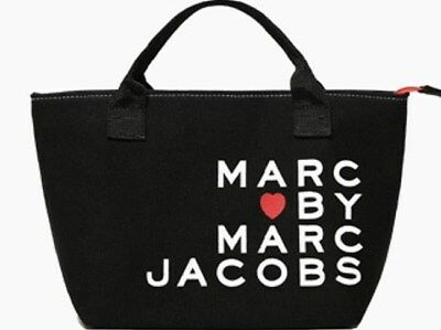 Marc by Marc Jacobs Small Tote Lunch Shopping Bag All-Purpose Black Canvas NEW
