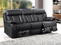 Florence 3&2 Bonded Leather Recliner Set with Cupholders