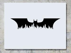 Batman-Gotham-Vista-Sulla-Citta-Skyline-Pipistrello-Justice-League-Decalcomania