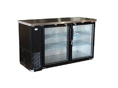 Alamo Xubb60 61 15.8cf 2-door Back-bar Refrigerator Glass Beer Bottle Cooler