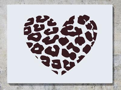Leoparden Druck Herz Tiere Wand Abziehbilder Kunst Aufkleber Bild
