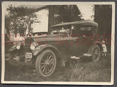 Vintage Car Photo Mystery Classic 1920s Touring Convertible Automobile 669695